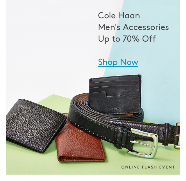 Cole Haan | Men's Accessories | Up to 70% Off | Shop Now | Online Flash Event