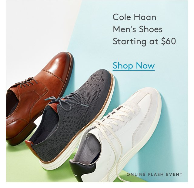 Cole Haan | Men's Shoes | Starting at $60 | Shop Now | Online Flash Event