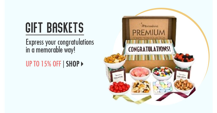 Gift Baskets – up to 15% off