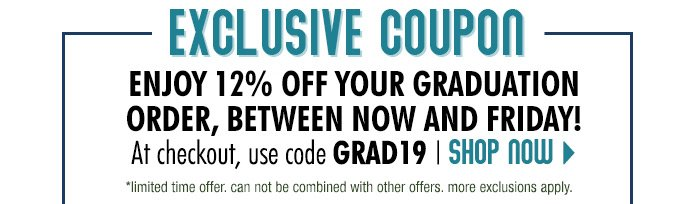 Extra 12% off with code GRAD19