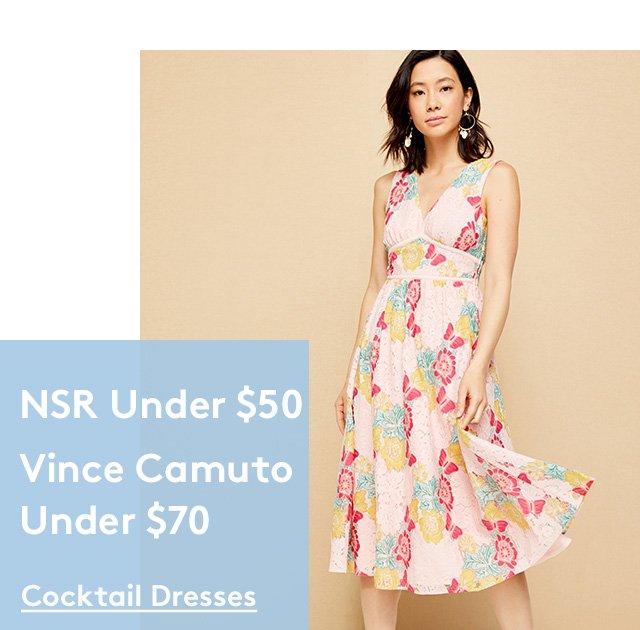 NSR Under $50 | Vince Camuto Under $70 | Cocktail Dresses