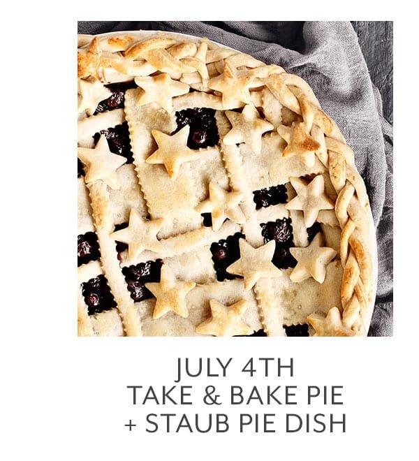 Class - July 4th Take & Bake Pie + Staub Pie Dish
