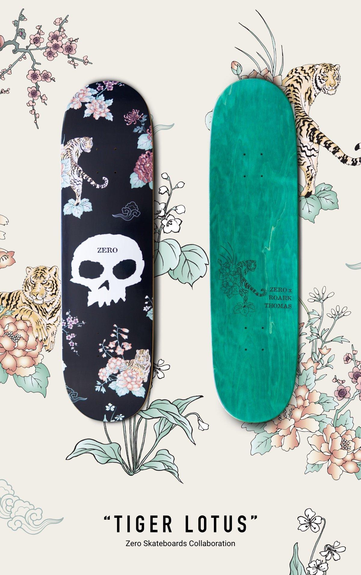 """TIGER LOTUS"" Zero Skateboards Collaboration"
