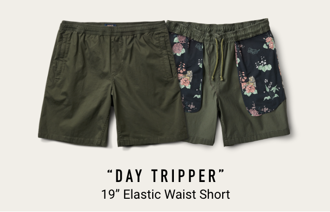 """DAY TRIPPER"" 19"" Elastic Waist Short"
