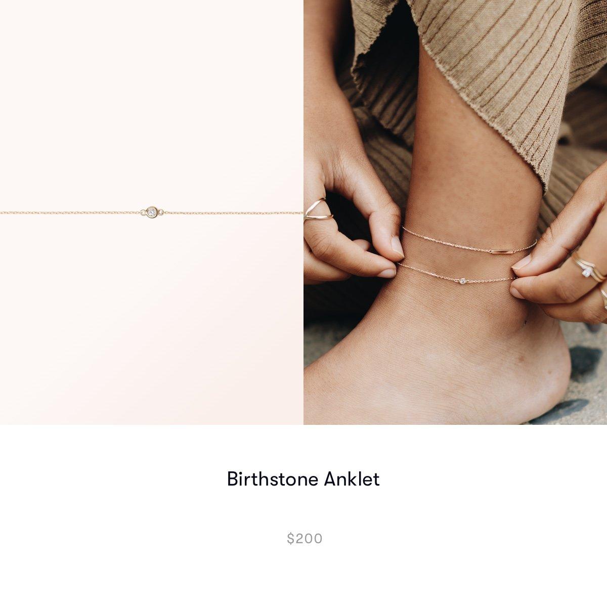 Birthstone anklet