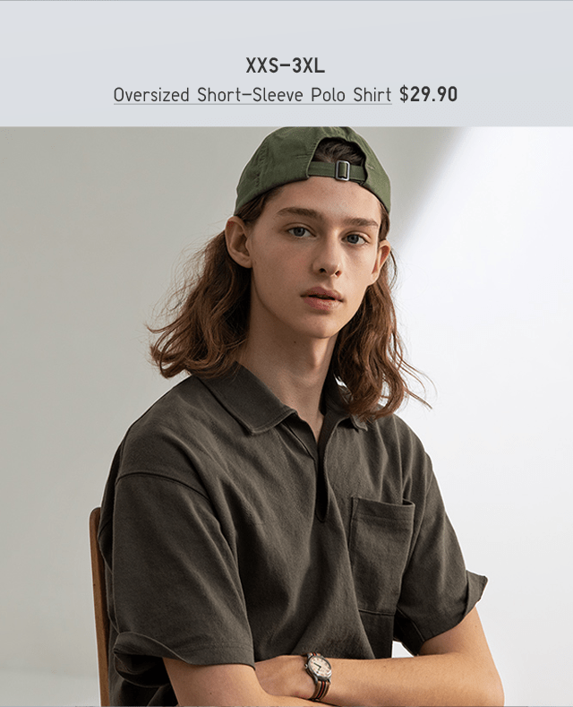 BODY2 - MEN OVERSIZED SHORT-SLEEVE POLO SHIRT