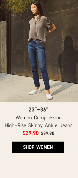 BANNER CTA1 - WOMEN COMPRESSION HIGH-RISE SKINNY ANKLE JEANS