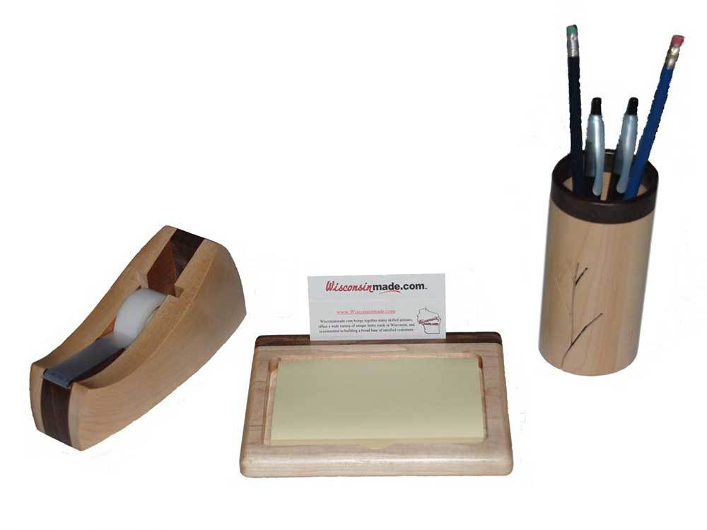 Handcrafted Wood Desk Set on WisconsinMade Artisan Collective