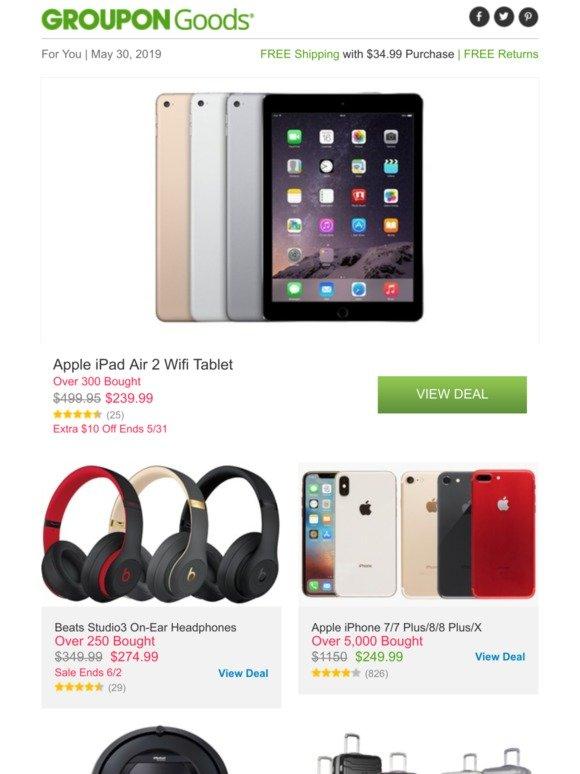 Groupon ZA: Apple iPad Air 2 Wifi Tablet, Beats Studio3 On