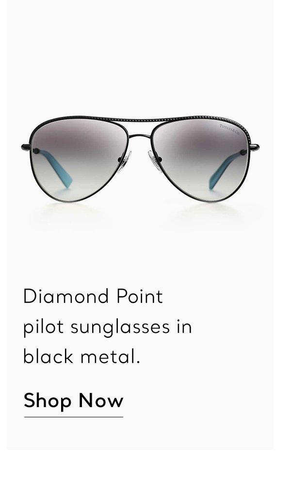 Shop Now: Black Metal Diamond Point Sunglasses