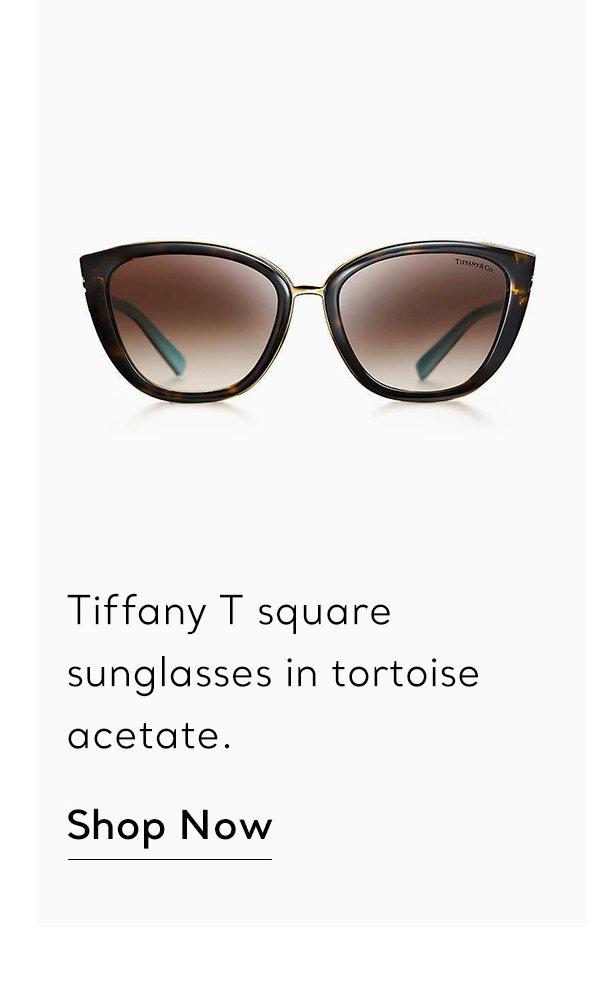 Shop Now: Tortoise Acetate Tiffany T Square Sunglasses