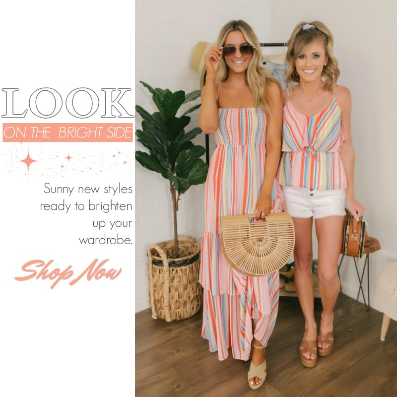 colorful striped outfits