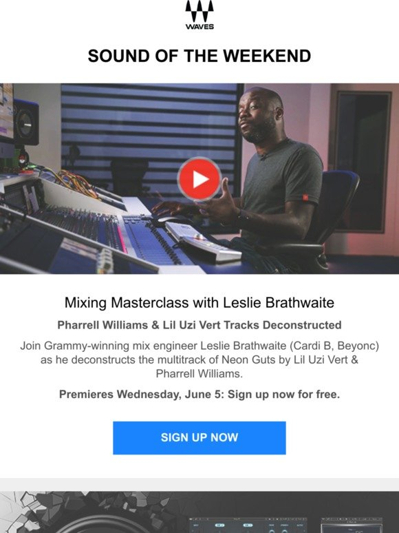 Waves Audio: Mixing Masterclass with Leslie Brathwaite: Sign