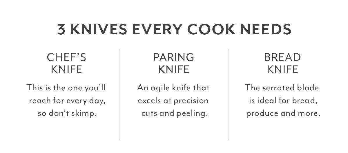 3 Knives Every Cook Needs