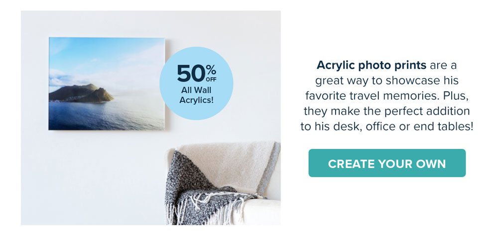 50% Off All Wall Acrylics - Create Your Own