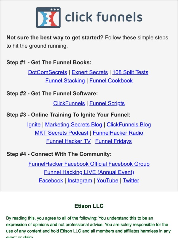Dotcomsecrets X - Internet Marketing Coaching Program: ClickFunnels