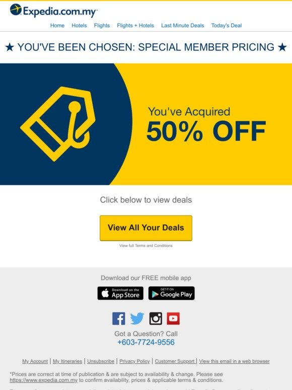 Expedia Com My Confirmed You Ve Scored 50 Off Milled