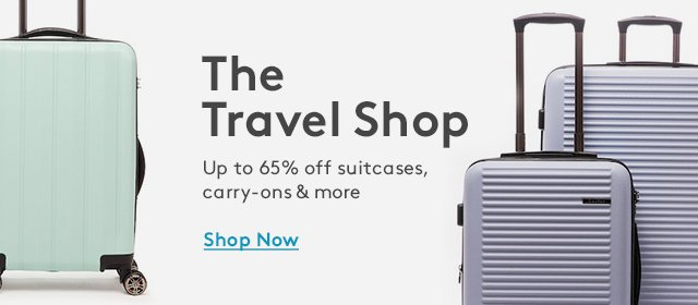 The Travel Shop | Up to 65% off suitcases, carry-ons & more | Shop Now