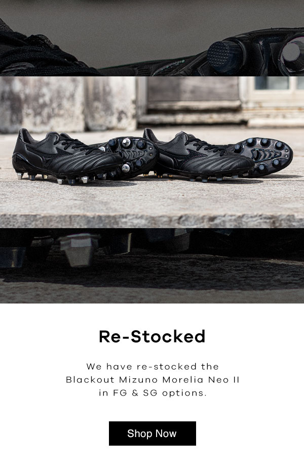 buy popular 61349 a8ab9 Lovell Rugby Limited: Mizuno Morelia Neo II 'Blackout' Is ...