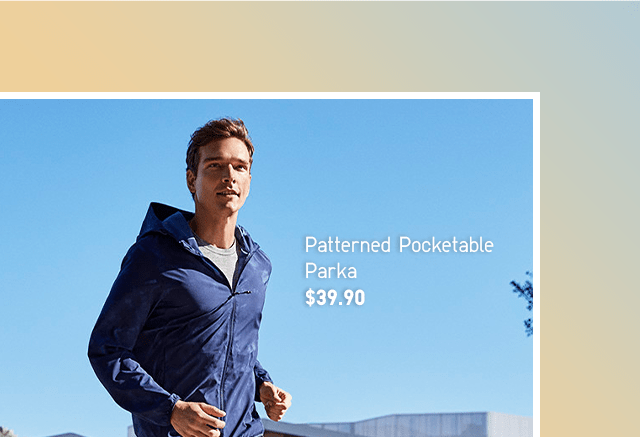 BODY4 - MEN PATTERNED POCKETABLE PARKA