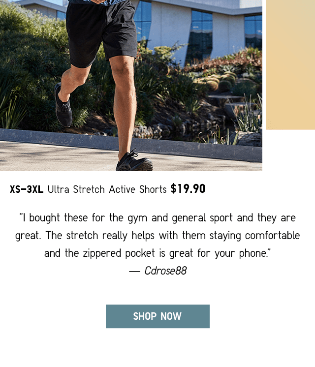 BODY4 - MEN ULTRA STRETCH ACTIVE SHORTS