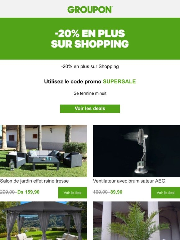 Groupon FR: -20% en plus sur TOUT Shopping 🛒 | Milled
