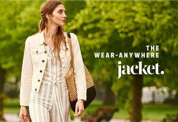 The wear-anywhere jacket - Shop Now