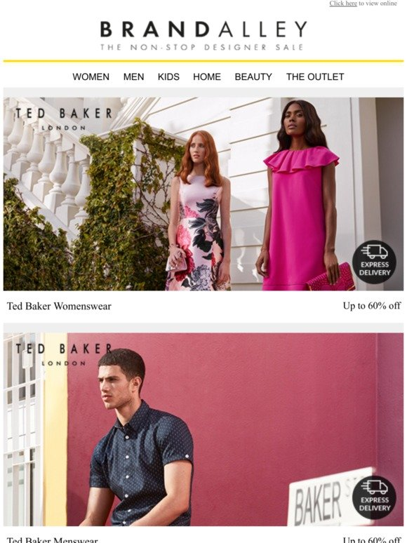 1a2e24778 brandalley uk limited: CLOSING SOON: Ted Baker, Orla Kiely, FitFlop, Phase  Eight, Hobbs, Le Creuset, Eve Mattresses, French Connection and L'Occitane  | ...
