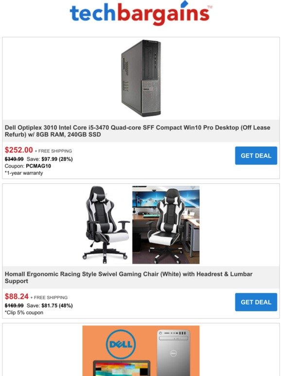 Stupendous Techbargains Ending Tonight Extra 15 Off Most Dell Pcs Uwap Interior Chair Design Uwaporg