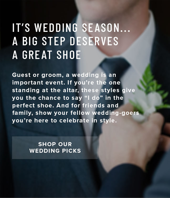It's wedding season… a big step deserves a great shoe. We've selected some of our favorite wedding picks to help you celebrate in style. Display images to learn more.