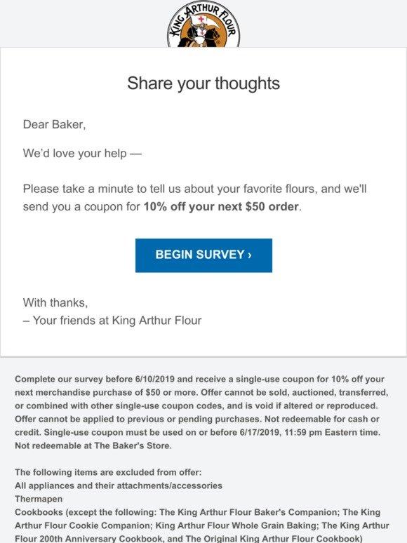king arthur coupons 2019