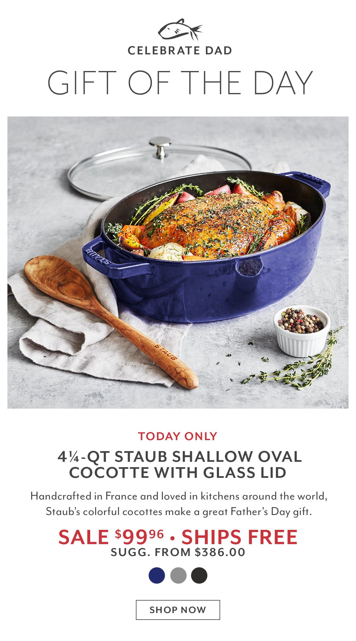 Gift of the Day: Staub Shallow Oval Cocotte
