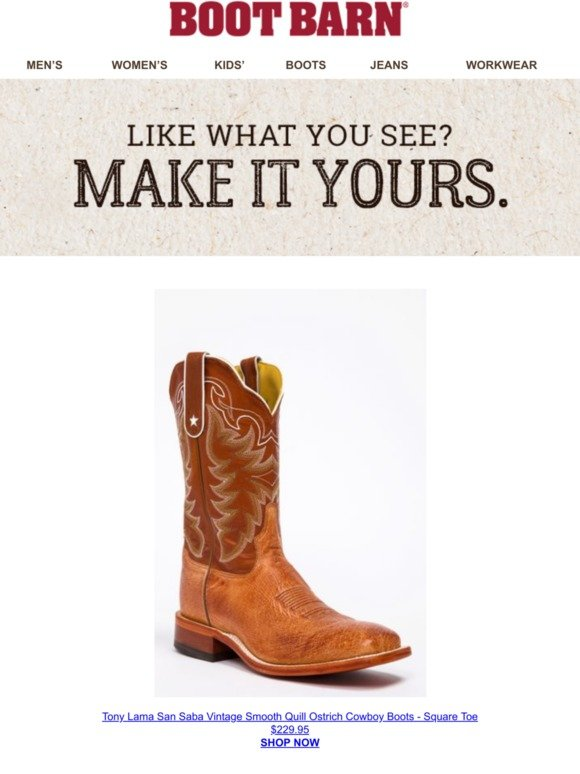 a10566422fe BootBarn.com: -Your Pick Is Selling Out Quickly | Milled