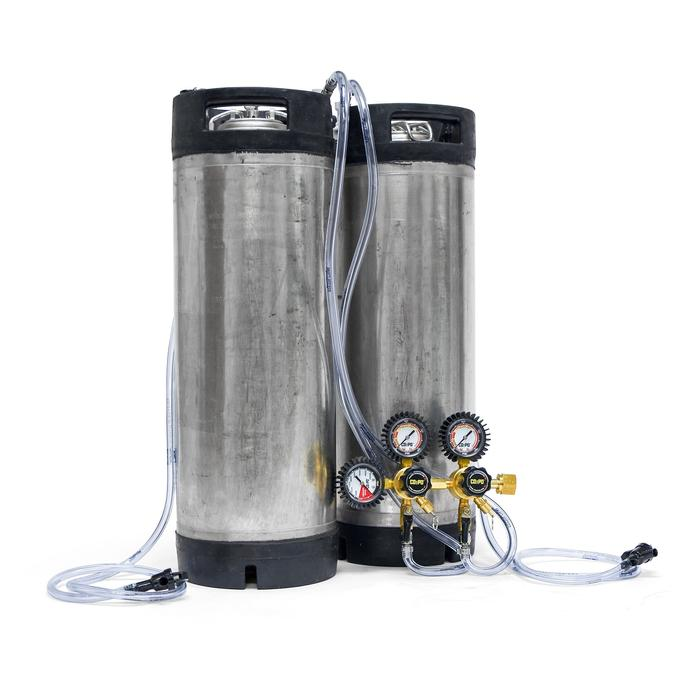 Dual Keg System With Reconditioned Ball Lock Kegs. Only $199.99