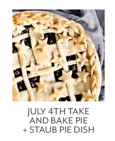 Class: July 4th Take and Bake Pie + Staub Pie Dish