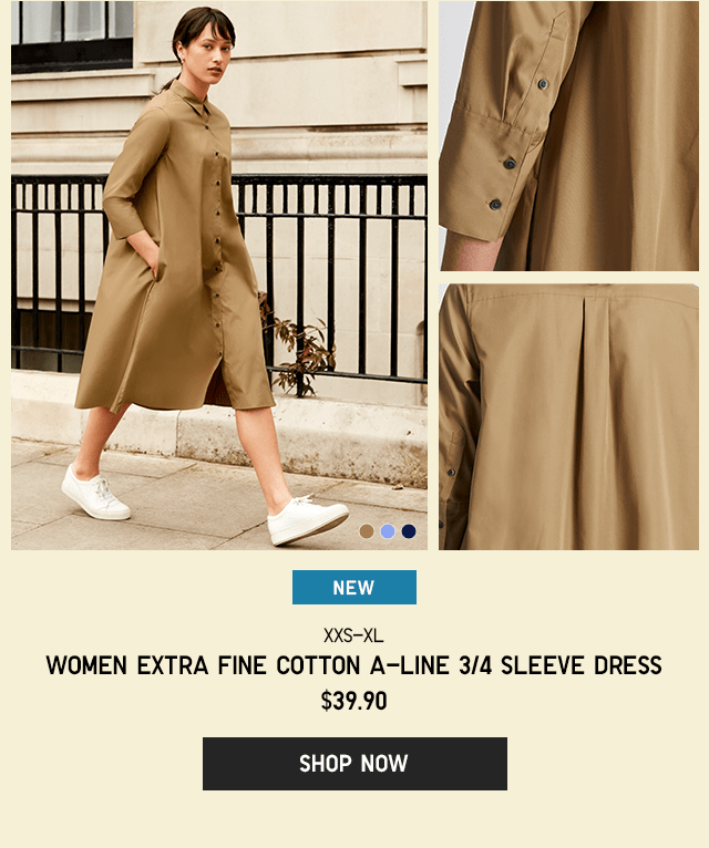 HERO - WOMEN EXTRA FINE COTTON A-LINE 3/4 SLEEVE DRESS