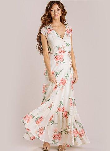 Isabelle Floral Wrap Maxi Dress