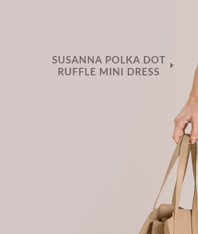 Susanna Polka Dot Ruffle Mini Dress