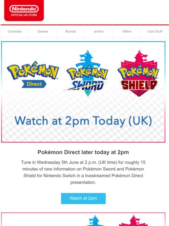 Nintendo Pokemon Direct Tune In Today At 2pm Milled