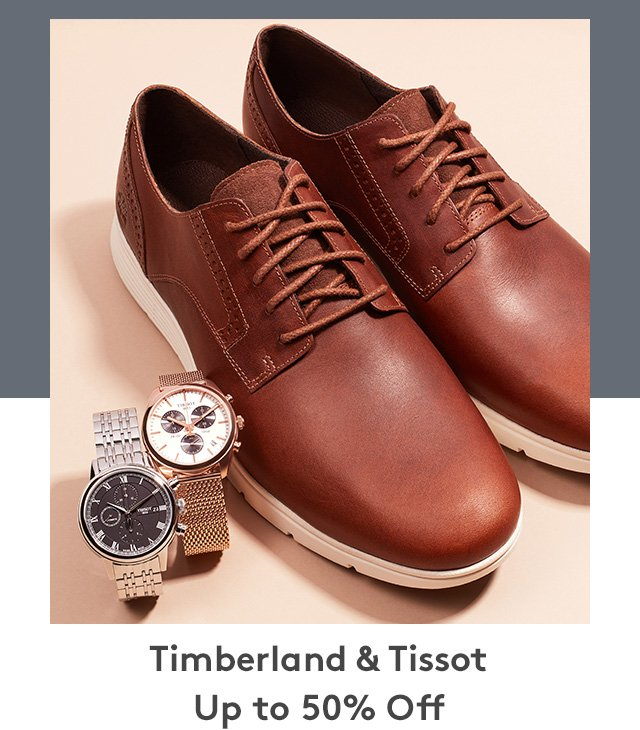 Timberland & Tissot | Up to 50% Off