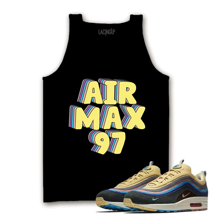 83c7706503b Nike air max 97 SEAN WOTHERSPOON black tank-Lacing Up