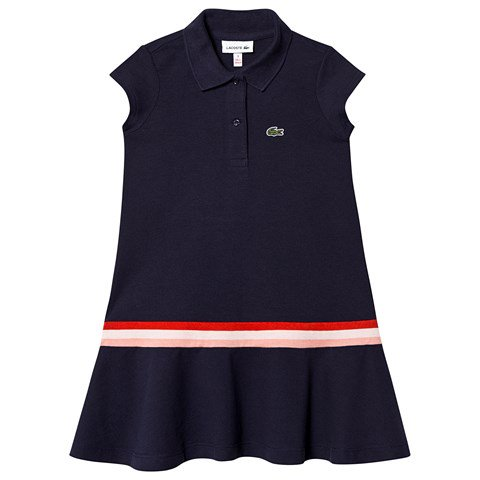 Lacoste Navy Pique Polo Dress