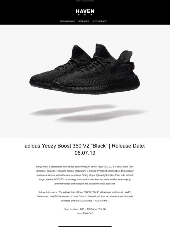 17e56ed1 Haven: Releases: adidas Yeezy Boost 350 V2 | New Arrivals: WTAPS | Milled