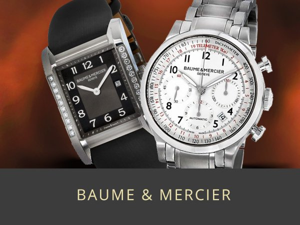 Shop Baume and Mercier Mens and Womens watches