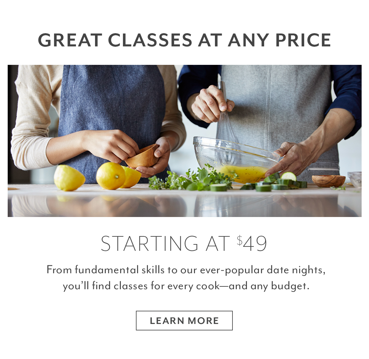 Great Classes at Any Price