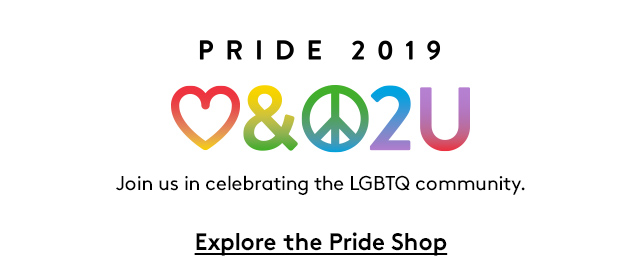 Pride 2019 | Join us in celebrating the LGBTQ community. | Explore the Pride Shop