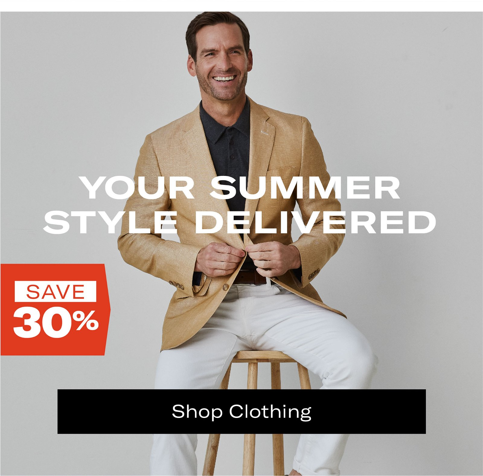 Save Up To 30% on Select Clothing Styles