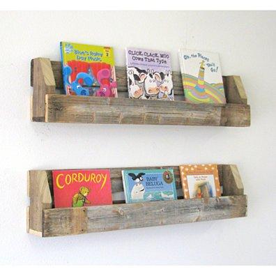 Reclaimed Bookshelves   set of 2