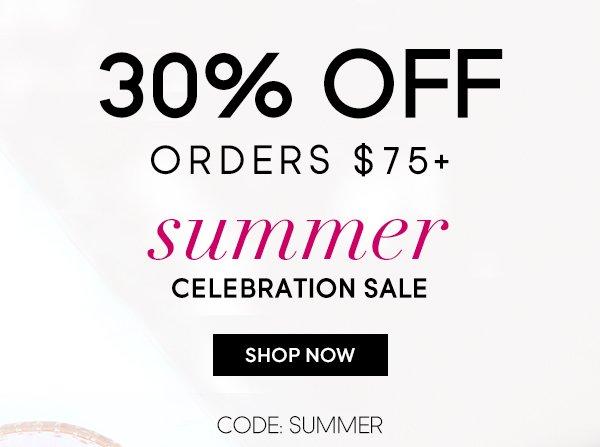 Summer Celebration Sale - 30% OFF