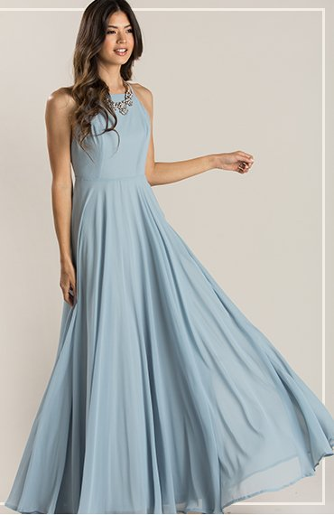 Emma Light Blue Flowy Maxi Dress